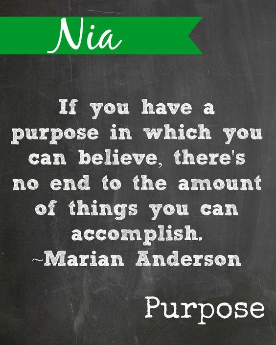 #Kwanzaa Printable. Nia means Purpose