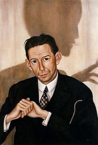 Dr. Haustein - Christian Schad      Christian Schad      Portrait of Dr Haustein     1928      Oil on canvas.      80.5 x 55 cm      Museo Thyssen-Bornemisza, Madrid
