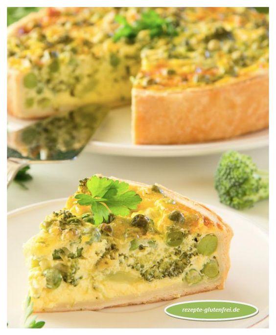 Brokkoli Quiche! Pikanter, glutenfreier Mürbeteig mit saftiger Brokkoli - Füllung! www.rezepte-glutenfrei.de