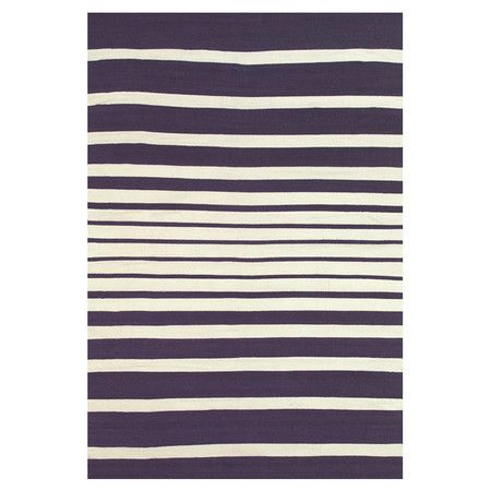 Hand-loomed indoor/outdoor rug with a stripe motif.   Product: RugConstruction Material: PolyesterCo...