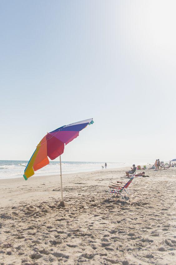 Fun Summer beach umbrellas