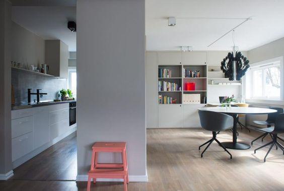Delvis Åpen planlØsning: døråpningen til kjøkkenet er blitt ...