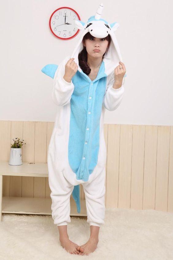 Unisex Adult Flannel Pajamas Animal Pyjama Suits Cosplay Adult ...