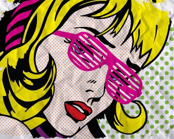 """Roy Lichtenstein """"Expressões e cores"""""""
