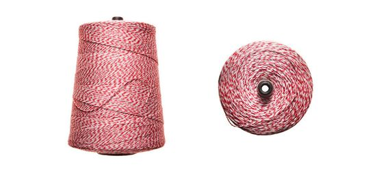 Red and white baker's twine.