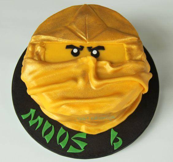 cake Lego Ninjago gouden Lloyd golden