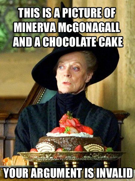 Professor Minerva McGonagall and Chocolate Cake.