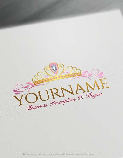 Online Princess Crown Logo Design Free Logo Maker Logo Design