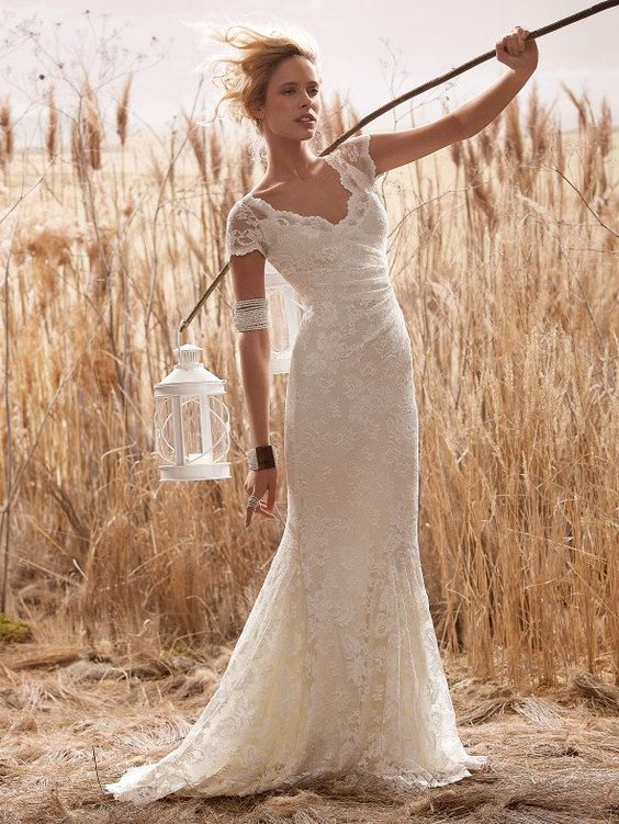Rustic Wedding Gown: