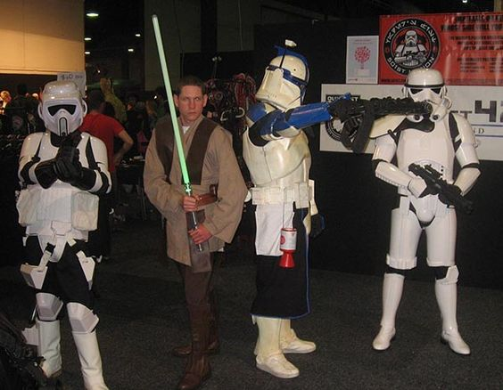 You can always count on the Star Wars fans to go the whole hog - Armageddon in Auckland #mediadesignschool #costume #cosplay