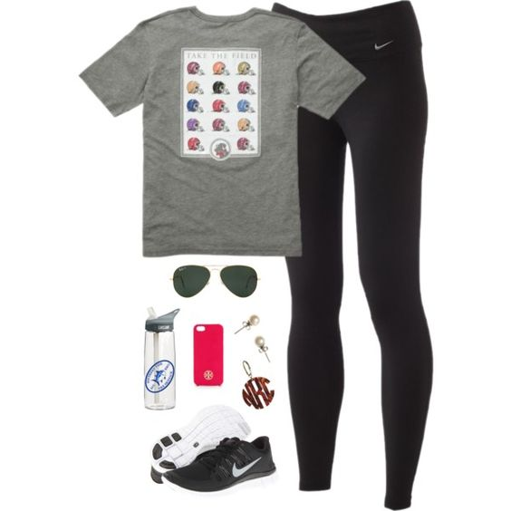 athletic wear, created by classically-preppy on Polyvore