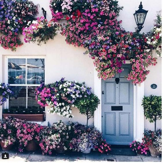 Use berry-toned florals to add some rustic elegance to your doorstep.