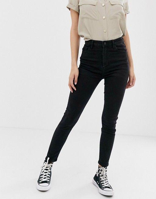 Черные джинсы скинни с завышенной талией Pimkie | ASOS