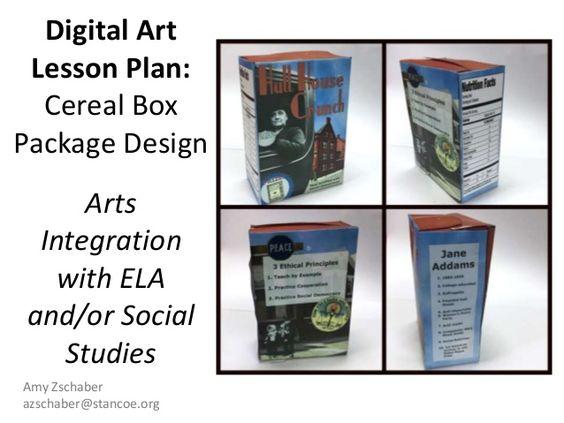 Digital Art Lesson Plan: Cereal Box Package Design Arts Integratio…