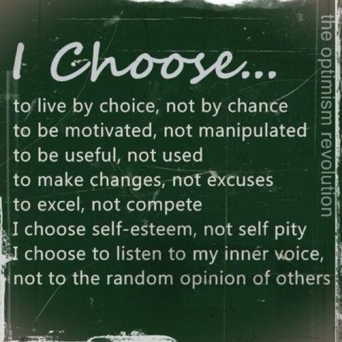 choose self-esteem