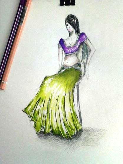 """indian sari"" by me"