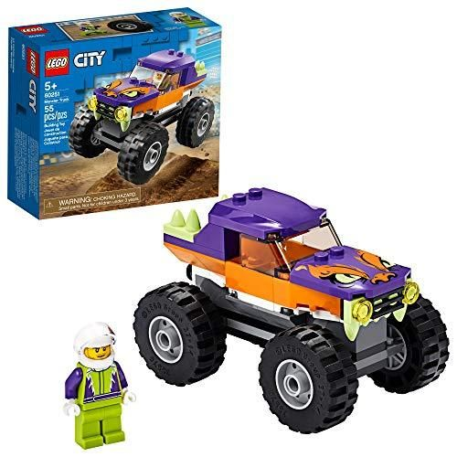 Lego City Monster Truck 60251 Playset Lego Building Sets For Kids New 2020 55 Pieces In 2020 Monster Trucks Monster Truck Toys Lego City