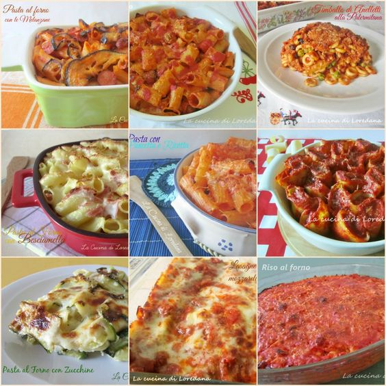 Una Raccolta di tante Ricette di Pasta al Forno tutte squisite e deliziose, con peperoni, con funghi, con sugo o con besciamella