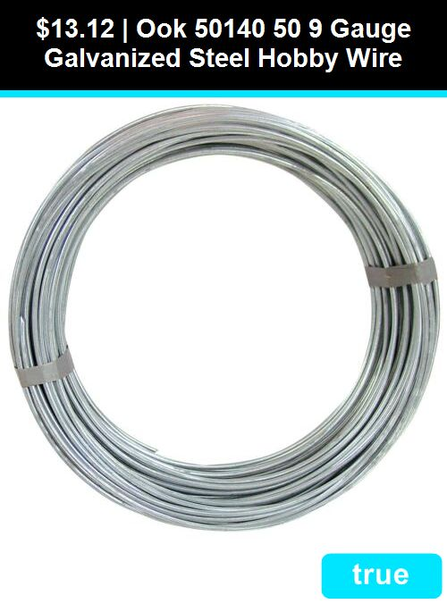 Ook 50140 50 9 Gauge Galvanized Steel Hobby Wire Galvanized Steel Galvanized Steel