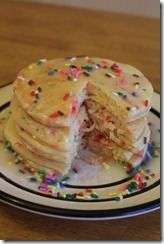 Let's celebrate Penner with these cake batter pancakes