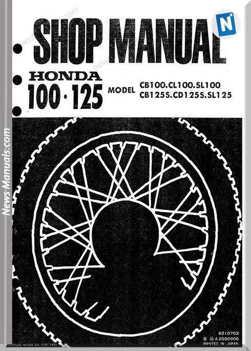Honda Cb 100 Cl100 Sl100 Cb125s Cd125s Sl125 70 Service Manual Honda Cb Honda Cb 100 Repair Manuals