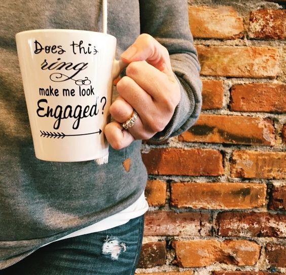 does thing ring make me look engaged mug