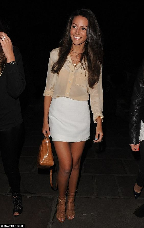 Stylish star: Michelle Keegan looked chic as she hit the town in Essex for a fun night out...
