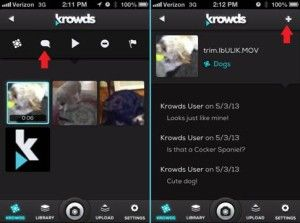 Krowds video app for iOS -- Now with comments!
