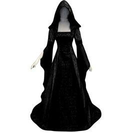 Womens Sleeveless Victoria Dress Medieval Renaissance Floor Length Dresses Retro Black Gothic Punk Empire Long Dress Lace