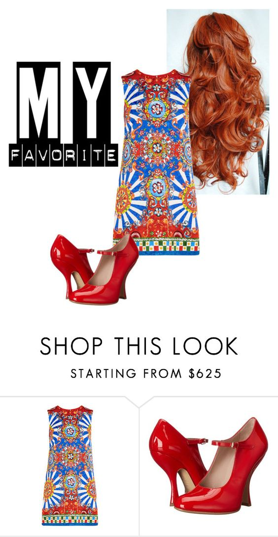 """""""Bold colours and red hair MY FAVOURITE"""" by joey1992 ❤ liked on Polyvore featuring Dolce&Gabbana and Vivienne Westwood"""