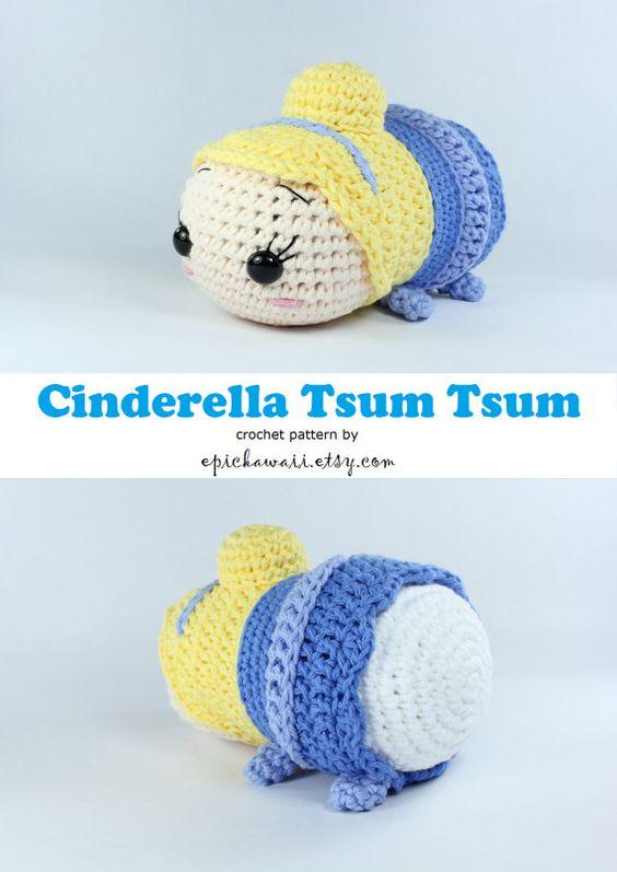 Tsum Tsum Disney Amigurumi : PATTERN: Cinderella Tsum Tsum Crochet Amigurumi Doll ...
