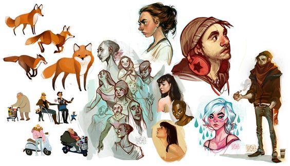 ilustraciones de loish, desde deviantart