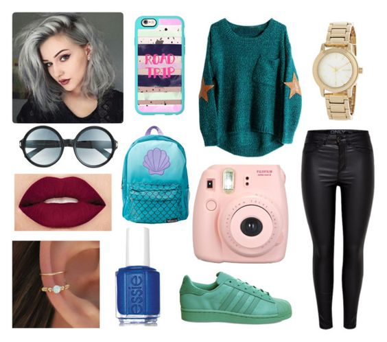 """""""Mermaid"""" by ro-cargnelutti ❤ liked on Polyvore featuring adidas, Fujifilm, DKNY, Smashbox, Essie, Casetify and Tom Ford"""