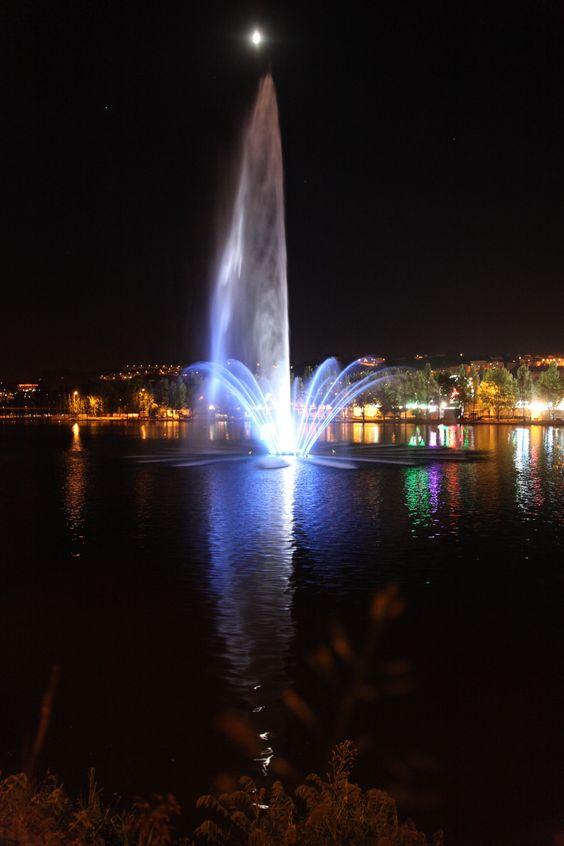 Fonte luminosa no Mondego