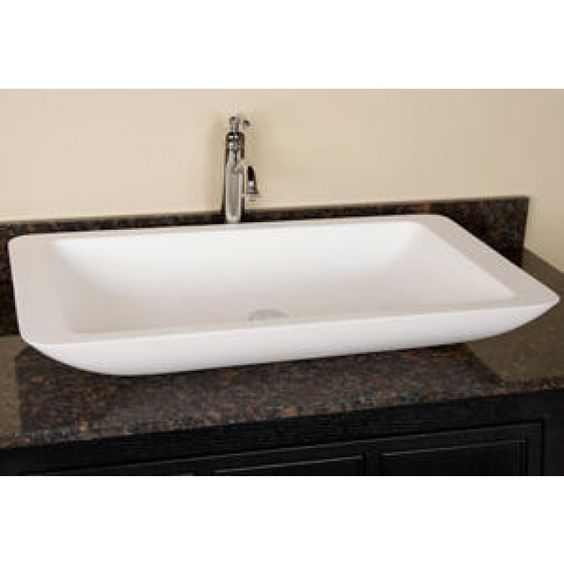 Large White Sink : ... resin vessel porcelain vessel and more sinks resins vessel sink