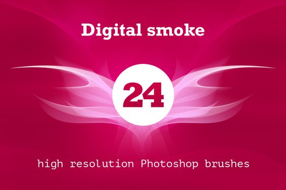 Digital smoke brush pack by outlinez on Creative Market