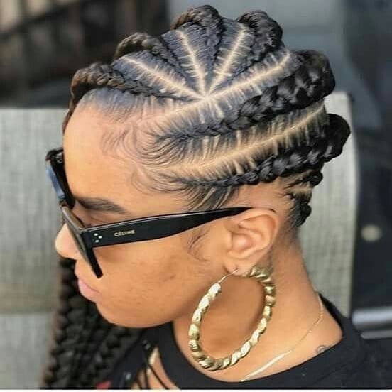 Coiffure Tresse Cheveux Naturel Braided Mohawk Hairstyles Hair Twist Styles Natural Hair Twists