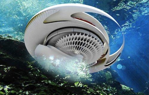 Hidroelektrična plimska kuća u obliku morskog ježa - Građevinarstvo