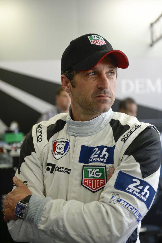 L'acteur Patrick Dempsey en pilote au 24h du Mans.
