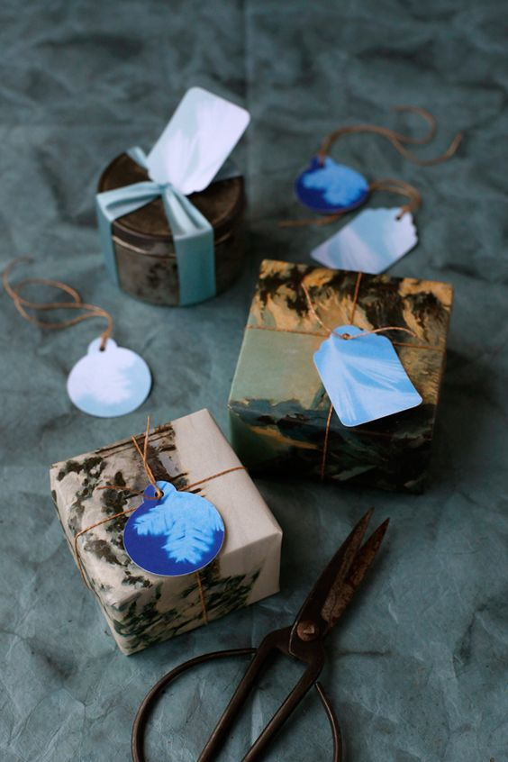 Cyanotype Gift Tags