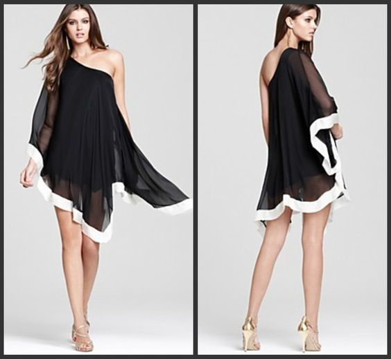 black and white party dresses