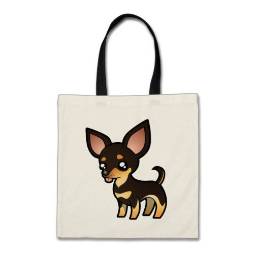 Cartoon Chihuahua Black And Tan Smooth Coat Tote Bag Zazzle
