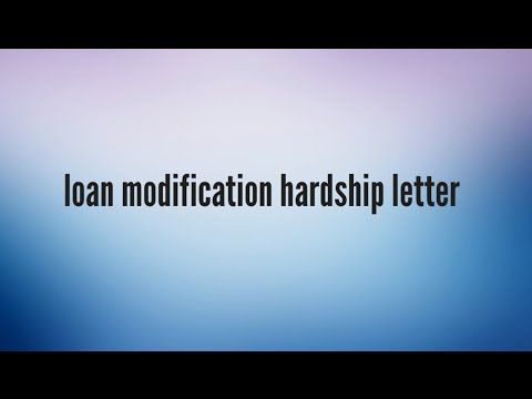 18003808393 A Loan Modification Hardship Letter will paint a - loan modification specialist sample resume