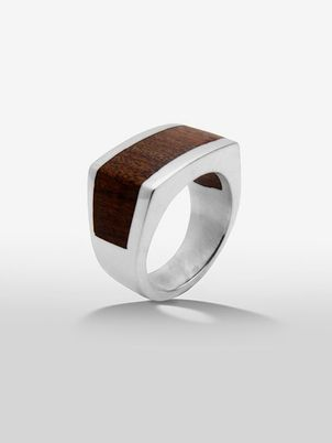 Exotic Handmade Wood Square Ring