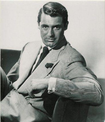 Cary Grant. Just looks so comfortable in that suit, most of the look is in the attitude