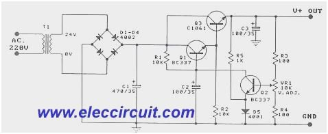 0 30v Variable Power Supply Circuit Diagram Pdf Google Search Circuit Diagram Power Supply Circuit Electronic Circuit Projects