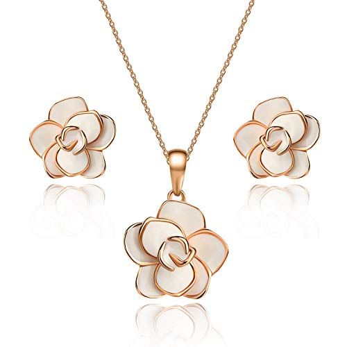Rose Flower Necklace Designer Necklace 18k Gold Filled Rose Flower Necklace Gold Rose Flower Necklace Rose Charm Necklace Rose Necklace