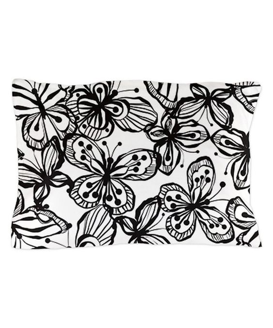 Loving this Black & White Butterfly Pillowcase on #zulily! #zulilyfinds