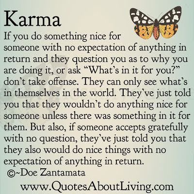 What do you do when someone does something to you and...?