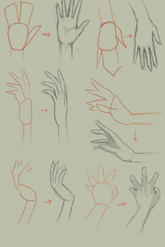 Zeichne Eine Hand Eine Hand Zeichne In 2020 Drawing Anime Hands Anime Drawings Tutorials Hand Sketch